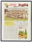 "1959 Milwaukee Braves 18"" x 24"" Framed ""Squirt Salutes The Braves"" Team Photo Insert Page"