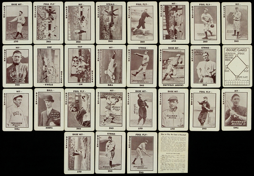 1913 Baseball The National Game Playing Cards - Lot of 28 w/ Connie Mack, Tris Speaker, Big Ed Walsh & more