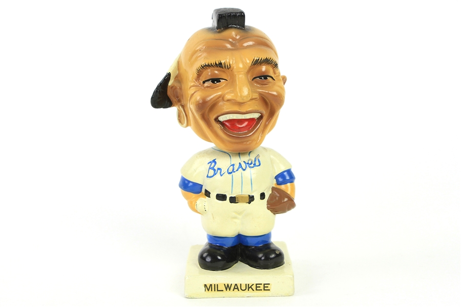 "1961-62 Milwaukee Braves Indian Mascot 7"" Bobble Head"