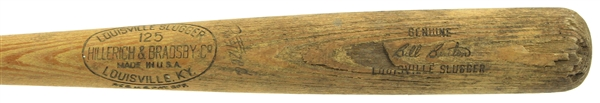 1953-60 Bill Bruton Milwaukee Braves H&B Louisville Slugger Professional Model Game Used Bat (MEARS LOA)