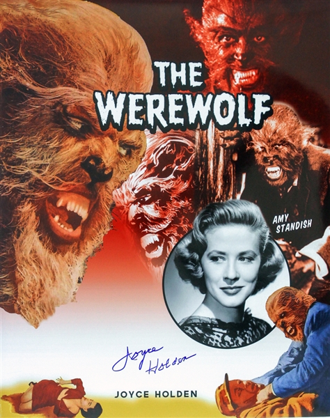1956 Joyce Holden The Werewolf Signed LE 16x20 Color Photo (JSA)