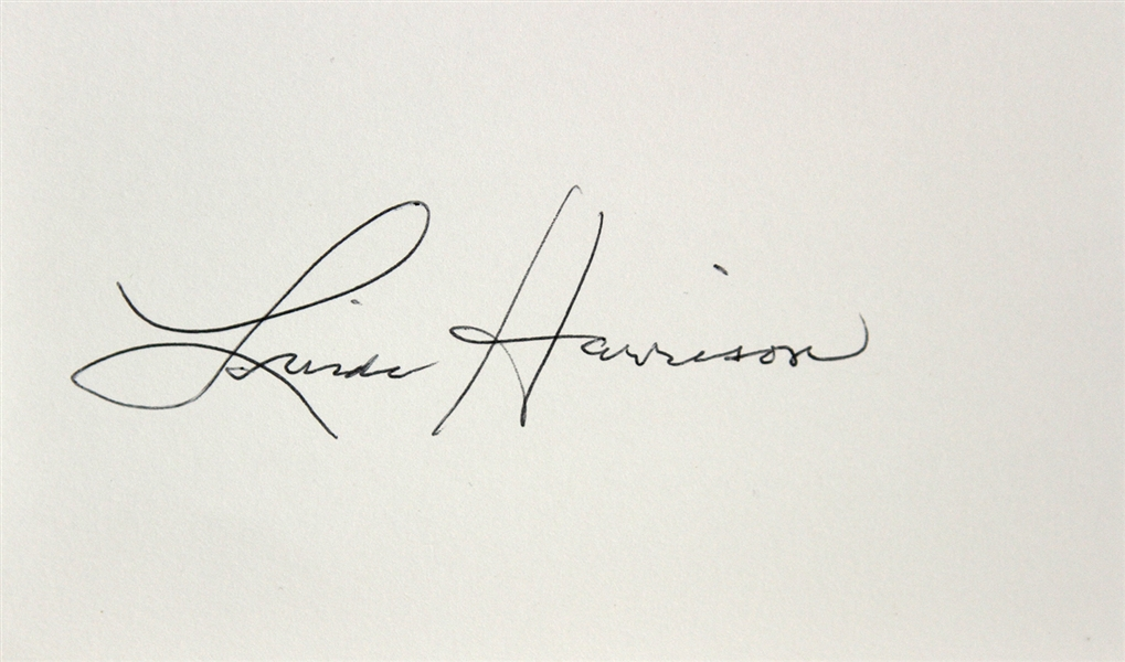 1968 Linda Harrison Planet of the Apes Signed LE 3x5 Index Card (JSA)
