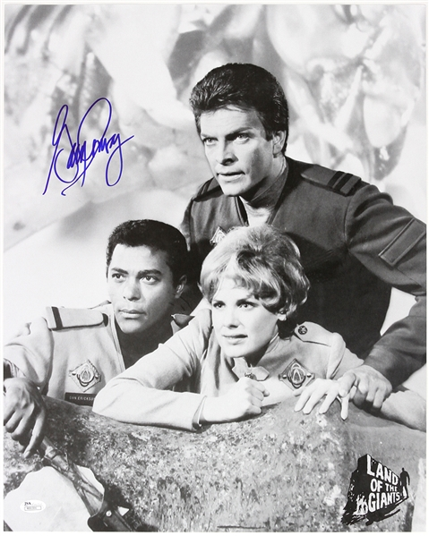 1968-1970 Gary Conway Land of the Giants Signed 16x20 B&W Partial Cast Photo (JSA)