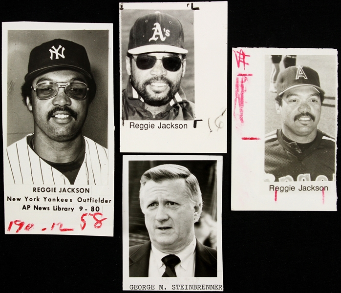 1980s Reggie Jackson / George Steinbrenner New York Yankees Photos (Sporting News Collection)