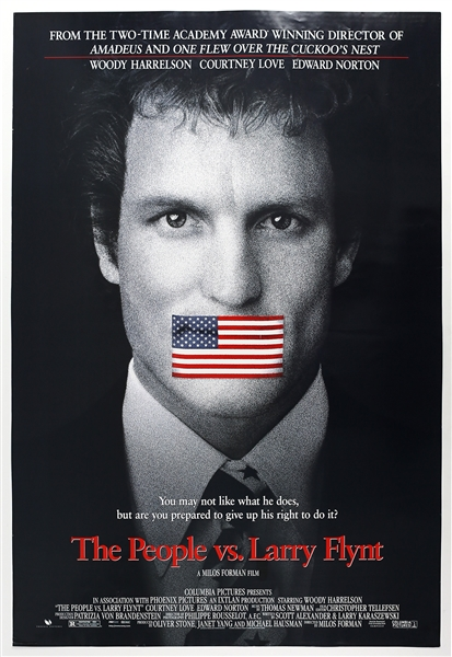 "1996 The People vs. Larry Flynt 27""x 40"" Film Poster"