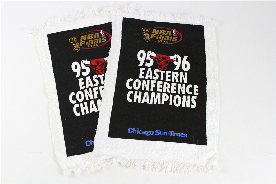 "1995-96 Chicago Bulls NBS Finals Eastern Conference Champions 10""x 17"" Hand Towels"