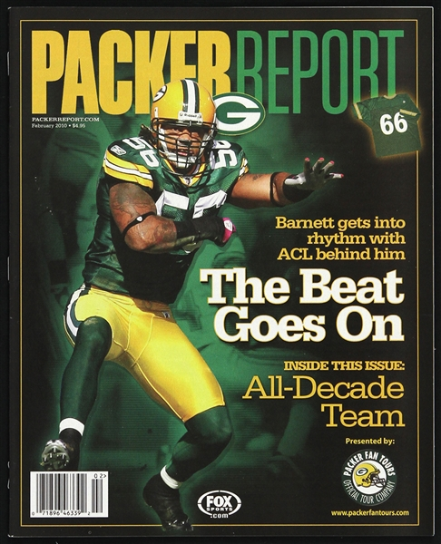 2010 Nick Barnett Green Bay Packers Packer Report