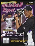 2010 Ubaldo Jimenez Colorado Rockies Baseball Digest