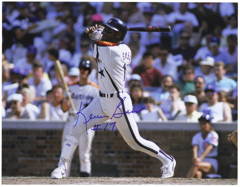"1982-1989 Kevin Bass Houston Astros Signed 11""x 14"" Photo (JSA)"