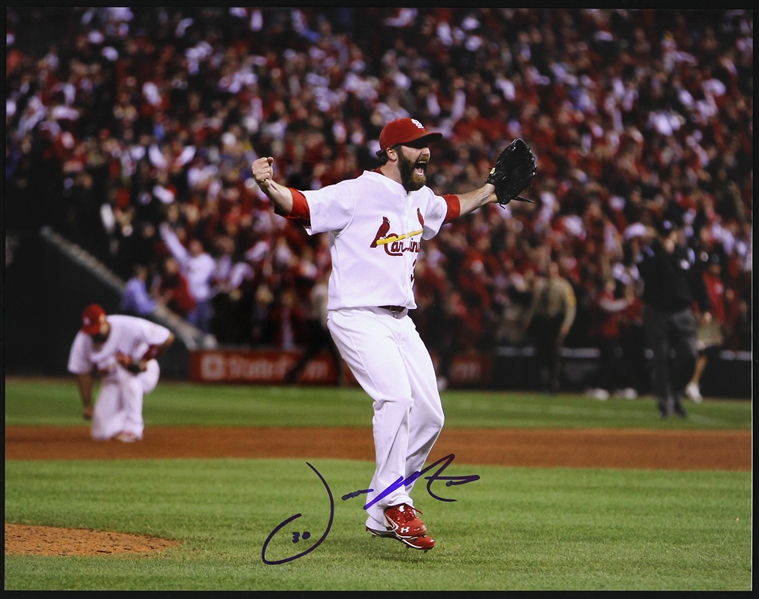 "2008-2014 Jason Motte St. Louis Cardinals Signed 11""x 14"" Photo (JSA)"