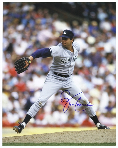 "1988-1989 John Candelaria New York Yankees Signed 11""x 14"" Photo (JSA)"