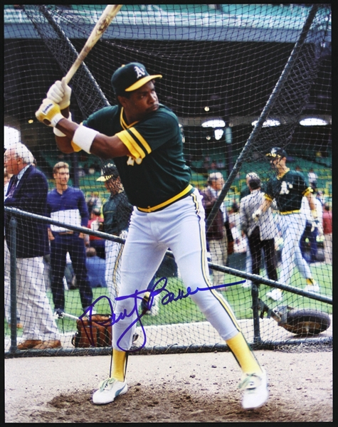 "1985-1986 Dusty Baker Oakland As Signed 11""x14"" Photo (JSA)"