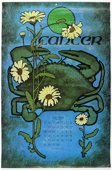 "1969 Cancer Vintage Zodiac 21""x 32"" Poster"