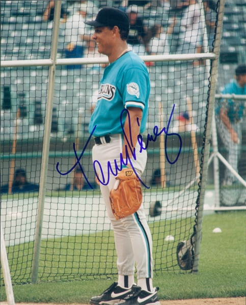 "2001 Tony Perez Florida Marlins Autographed Color 8""x10"" Photo (JSA)"
