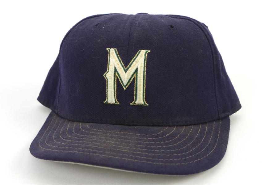 1997-98 Don Rowe Milwaukee Brewers Game Worn Cap (MEARS LOA)