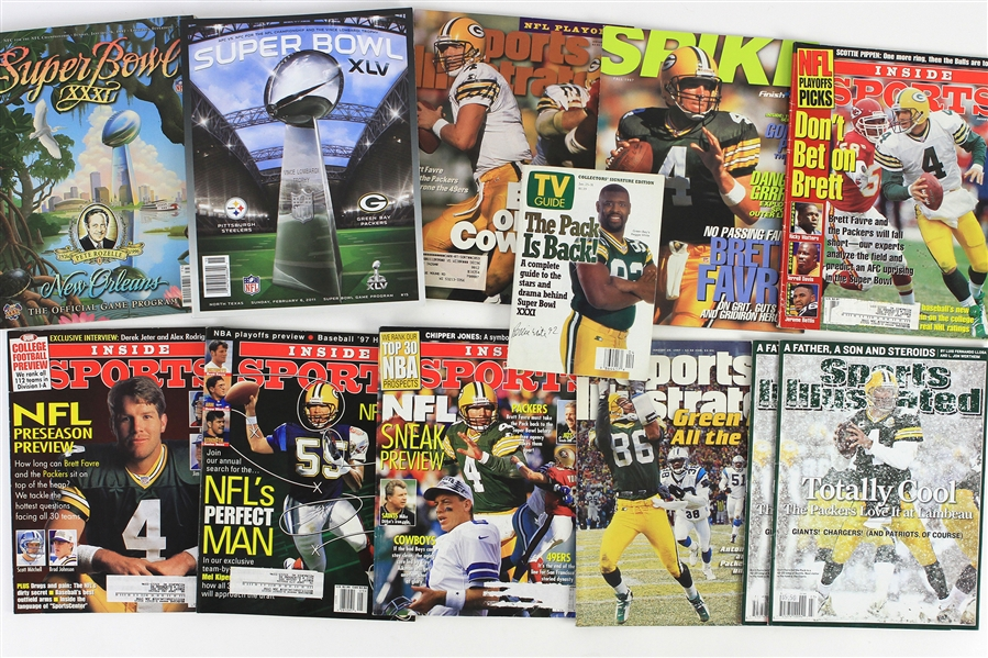 1990s-2000s Green Bay Packers Publication & Memorabila Collection - Lot of 40 w/ Super Bowl Programs & More