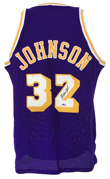 1979-80 Magic Johnson Los Angeles Lakers Signed Mitchell & Ness Throwback Jersey (JSA)