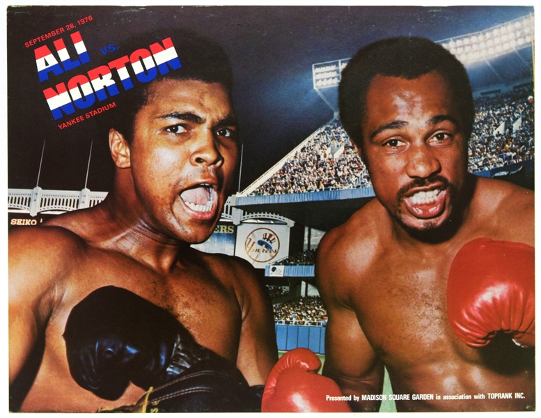 1976 (September 28) Muhammad Ali Ken Norton Yankee Stadium Heavyweight Title Fight Program