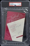 1990 Pete Rozelle NFL Commissioner Signed Night of Champions Invitation (PSA/DNA Slabbed)