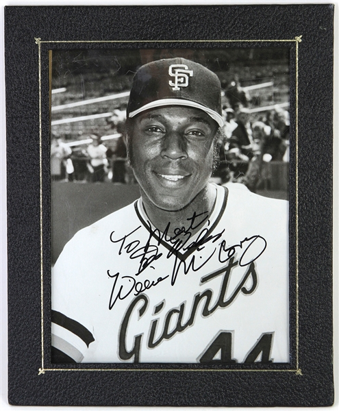 "1977-80 Willie McCovey San Francisco Giants Signed 8"" x 10"" Photo (JSA)"