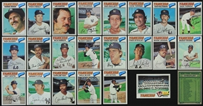 1977 New York Yankees Topps Burger King Trading Cards - Team Set of 23 Cards