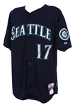 2013 Justin Smoak Seattle Mariners Game Worn Alternate Jersey (MEARS LOA/MLB Hologram)