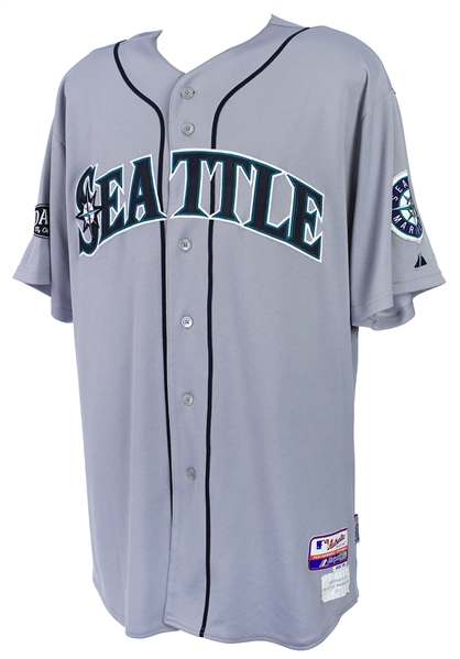 2011 Justin Smoak Seattle Mariners Game Worn Road Jersey (MEARS LOA/MLB Hologram)