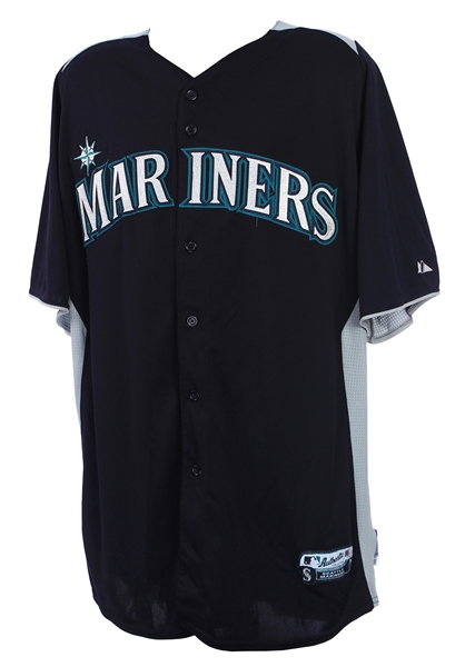 2013 Justin Smoak Seattle Mariners Batting Practice Jersey (MEARS LOA/MLB Hologram)