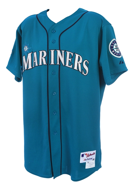 2011 (Aug 12/Sep 12) Trayvon Robinson Seattle Mariners Game Worn Alternate Jersey (MEARS LOA/MLB Hologram)