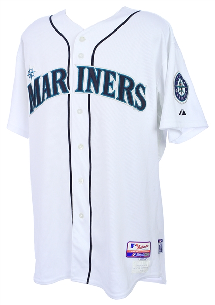 2010 Justin Smoak Seattle Mariners Signed Game Worn Home Jersey (MEARS LOA/ JSA / MLB Hologram)