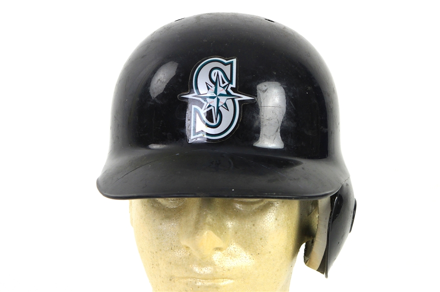 2012-13 Seatlle Mariners Game Worn Batting Helmets - Lot of 8 w/ Justin Smoak, Michael Saunders, Brad Miller & More (MEARS LOA/MLB Holograms)