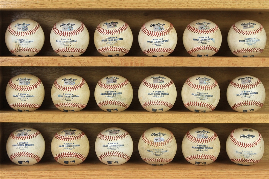 2010-13 Seattle Mariners Game Used Baseball Collection - Lot of 18 w/ Justin Smoak MLB Debut, James Paxton MLB Debut, Smoak Home Run & More (MEARS LOA/MLB Holograms)