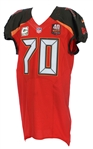 2015 (November 8) Logan Mankins Tampa Bay Buccaneers Game Worn Salute to Service Home Jersey (MEARS A10 & PSA/DNA)