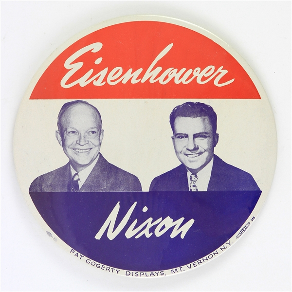 "1953-1961 Dwight D. Eisenhower & Richard Nixon 9"" Pat Gogerty Display"