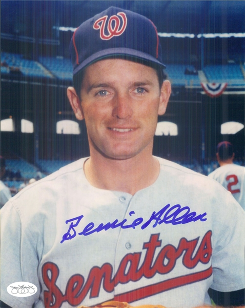 "1967-71 Bernie Allen Washington Senators Signed 8"" x 10"" Photo (*JSA*)"