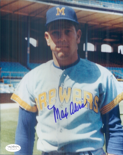 "1970 Max Alvis Milwaukee Brewers Signed 8"" x 10"" Photo (*JSA*)"