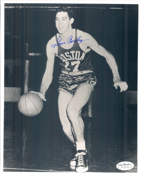 "1952-61 Gene Conley Boston Celtics Signed 8"" x 10"" Photo (*JSA*)"