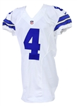 2016 Dak Prescott Dallas Cowboys Game Worn Home Jersey (MEARS A10) LOA former NFL Equipment Manager