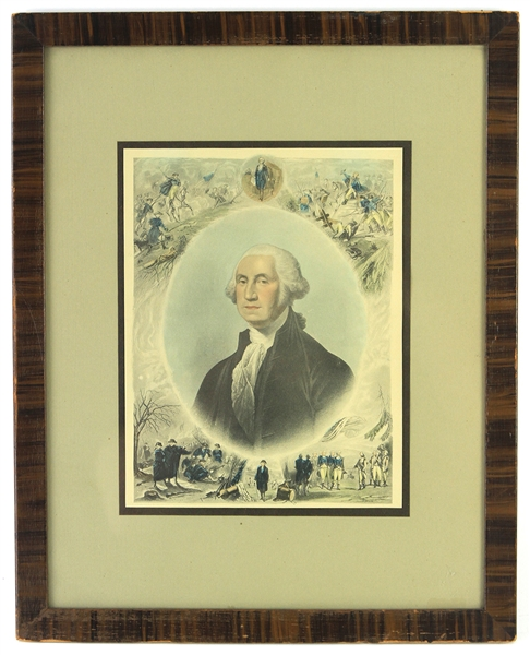 "1789-1797 George Washington 12""x 15"" Framed Print"
