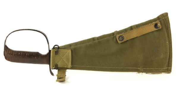 1942 WW2 Marine LC-14-B Rapier Knife w/ Zip Up Sheath, Manuals & Sharpening Stone