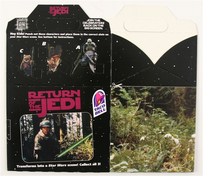 2013 Return of the Jedi Taco Bell Happy Meal Box – Unfolded, MINT
