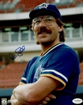 1986 Pete Ladd Seattle Mariners Autographed 8x10 Color Photo *JSA*