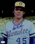 1982-84 Pat Dobson Milwaukee Brewers Autographed 8x10 Color Photo *JSA*