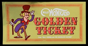 1971 Willy Wonkas Golden Ticket Candy Factory Kit Order Form