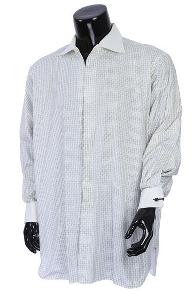 2000s William Shatner Worn Robert Talbott Protocol Long Sleeve Button Up Shirt (Shatner LOA/MEARS LOA)