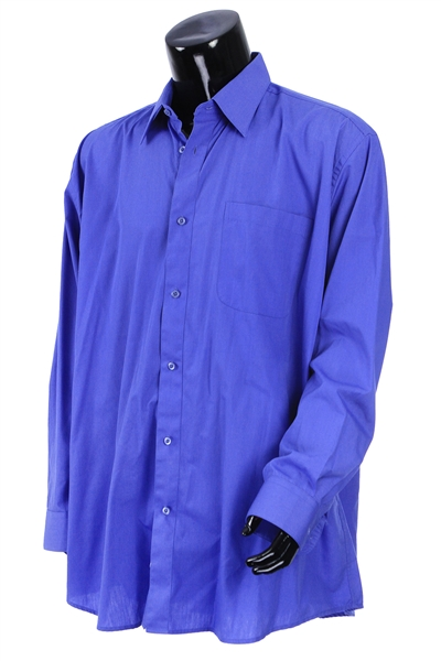2000s William Shatner Worn JFH Milani Long Sleeve Button Up Shirt (Shatner LOA/MEARS LOA)