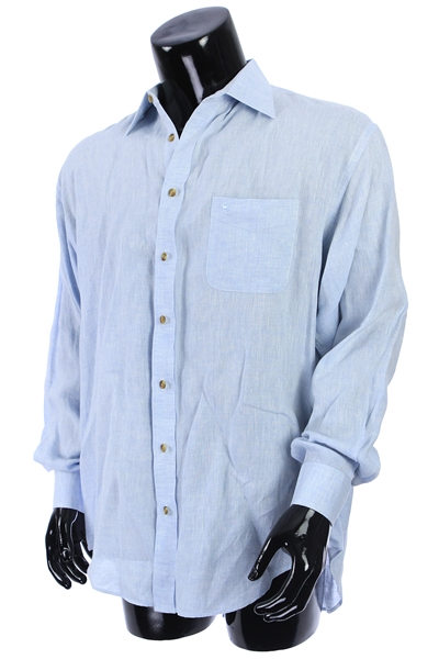 2000s William Shatner Worn John Magee Long Sleeve Button Up Shirt (Shatner LOA/MEARS LOA)