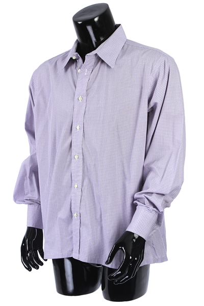 2000s William Shatner Worn Royal Classic Long Sleeve Button Up Shirt (Shatner LOA/MEARS LOA)