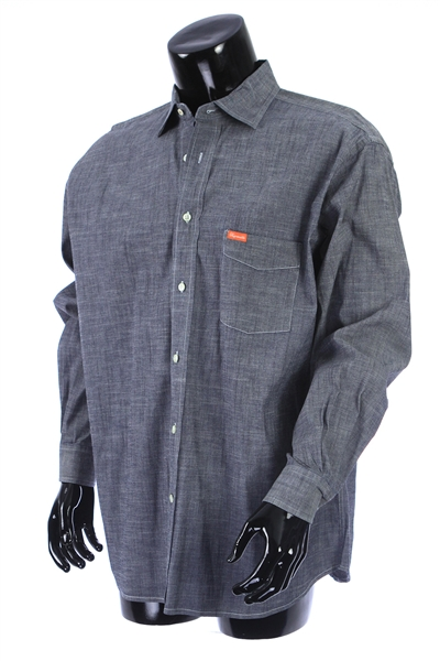 2000s William Shatner Worn Faconnable Long Sleeve Button Up Denim Shirt (Shatner LOA/MEARS LOA)