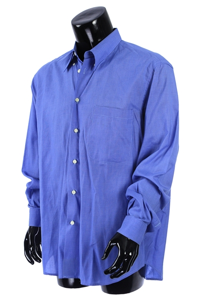 2000s William Shatner Worn Nicolas Long Sleeve Button Up Shirt (Shatner LOA/MEARS LOA)